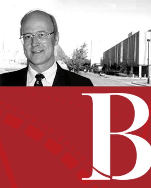 A photo of Bruce Bryden above the Bryden Gala logo