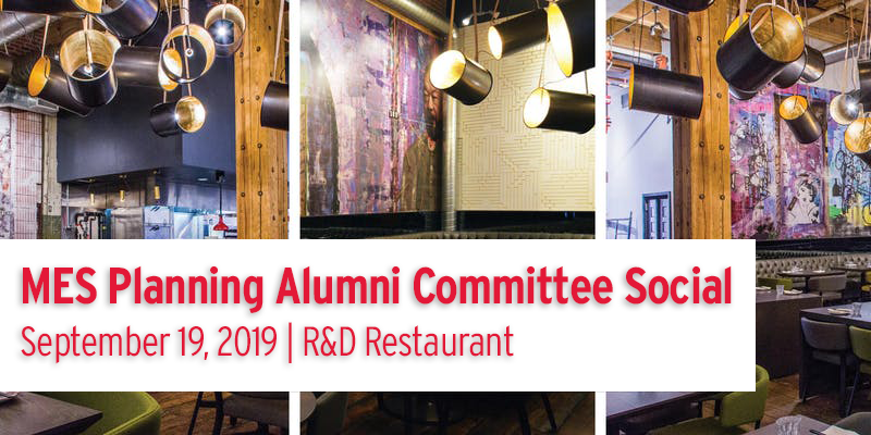 MES Planning Alumni Committee 15th Annual Social @ R&D Restaurant